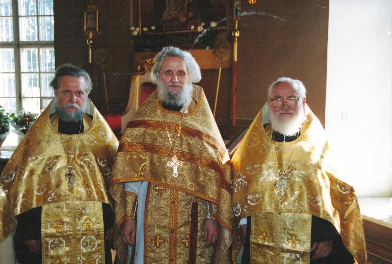 Протоиерей Леонид (Ролдугин), протопресвитер Владимир (Диваков), протопресвитер Матфей (Стаднюк)